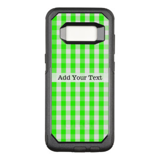 Neon Green Gingham Pattern by Shirley Taylor OtterBox Commuter Samsung Galaxy S8 Case