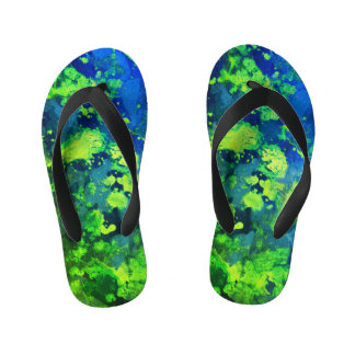 Neon Green Haze Kid's Thongs
