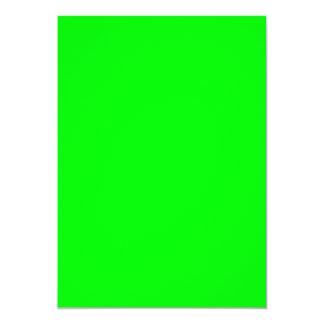 Neon green hex code 00FF00 13 Cm X 18 Cm Invitation Card