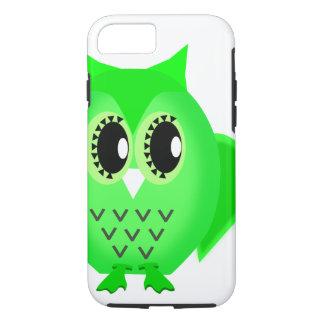 Neon Green Hootie Hoot Owl iPhone 7 Case