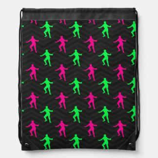Neon Green, Hot Pink, Fencing, Black Chevron Rucksacks