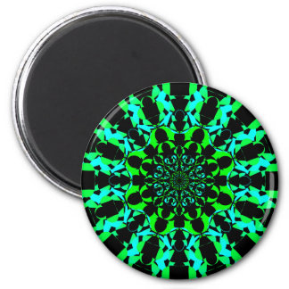 Neon Green Mandala Magnet