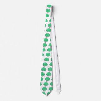 Neon Green Money Mushroom Tie