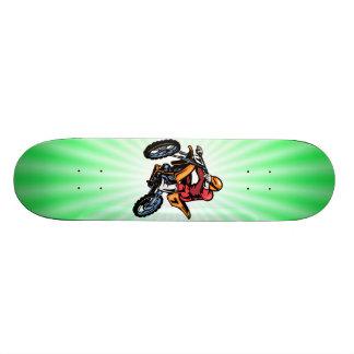 Neon Green Motocross Custom Skate Board