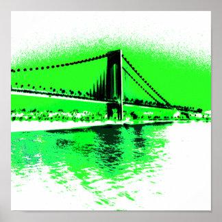 Neon Green Narrows print