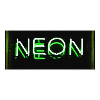 NEON - Green Neon Sign 10 Cm X 24 Cm Invitation Card