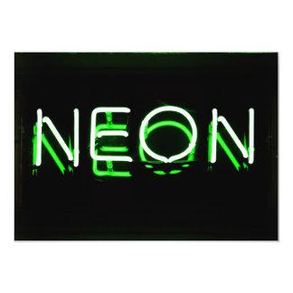 NEON - Green Neon Sign 13 Cm X 18 Cm Invitation Card