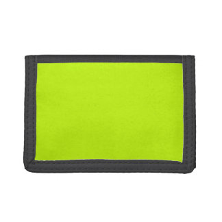 Neon Green Neon Yellow Highlighter Color Vivid Trifold Wallet