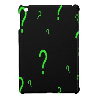 Neon Green Question Mark iPad Mini Cases