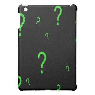 Neon Green Question Mark iPad Mini Covers
