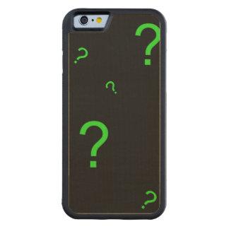 Neon Green Question Mark Maple iPhone 6 Bumper Case