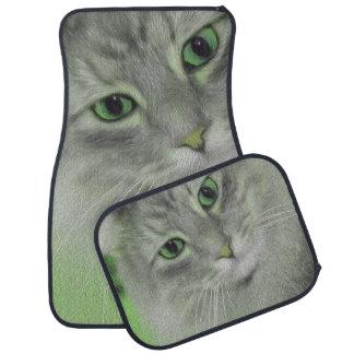 Neon Green Siberian Cat Car Mat