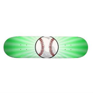 Neon Green Softball; Baseball Skate Board
