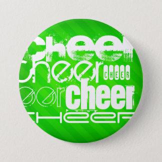 Neon Green Stripes 7.5 Cm Round Badge