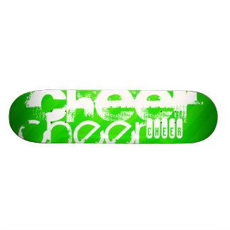 Neon Green Stripes Skate Board