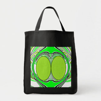 Neon green superfly design tote bags