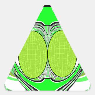 Neon green superfly design sticker