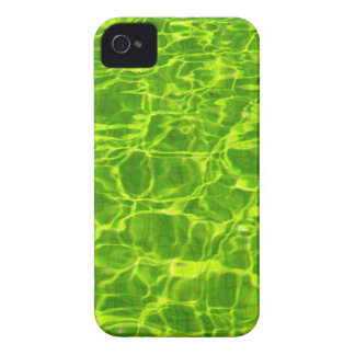 Neon Green Water Patterns Background Blank Modern Case-Mate iPhone 4 Case