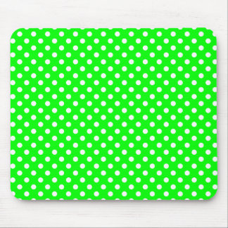 neon-green white points mouse pad