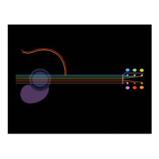 Neon Guitar Postcard