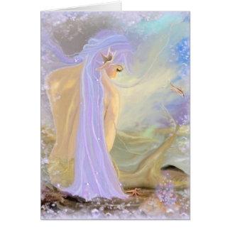 Neon-Haired Mermaid Card