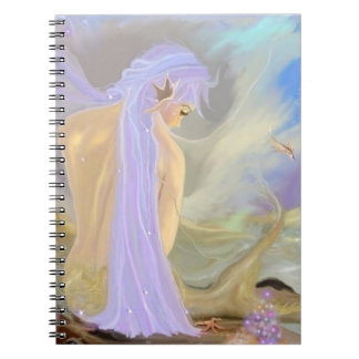 Neon-Haired Mermaid Notebook