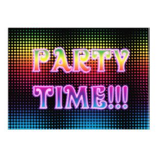 Neon Halftone Party Invitation