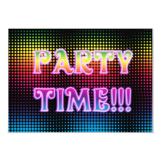Neon Halftone Party Invitation