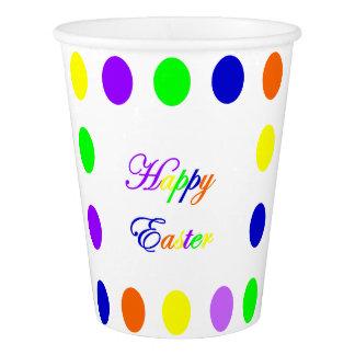 Neon Happy Easter Paper Cups