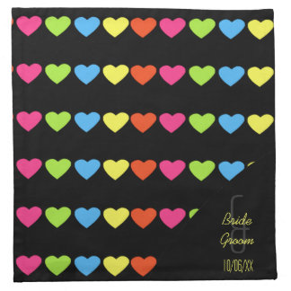Neon Hearts (Wedding) Napkin