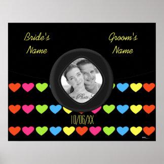 Neon Hearts (Wedding) Poster
