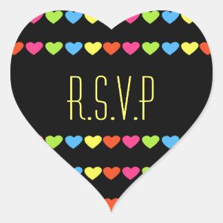 Neon Hearts (Wedding) Heart Sticker
