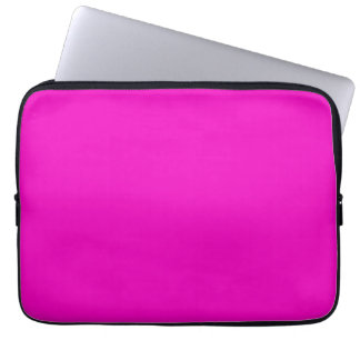 Neon Hot Pink Color Trend Blank Template Computer Sleeves