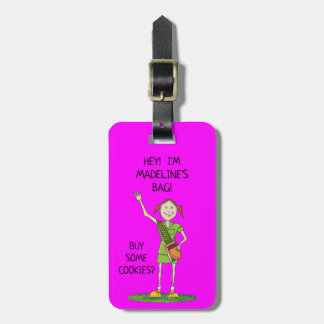 Neon HOT PINK Girl Scout JUNIOR | Custom Luggage Tag