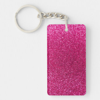 Neon hot pink glitter acrylic key chains