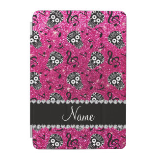 Neon hot pink glitter music notes sugar skulls iPad mini cover