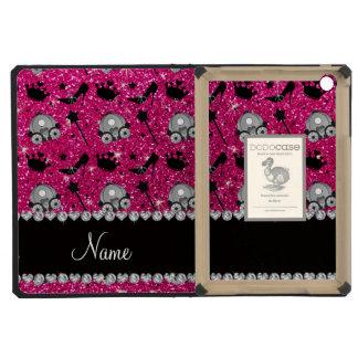 Neon hot pink glitter princess crown wand stars iPad mini cases