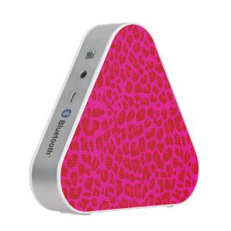 Neon hot pink leopard print pattern speaker