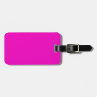 Neon Hot Pink Light Bright Fashion Color Trend Travel Bag Tags