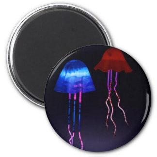 Neon Jellyfish 6 Cm Round Magnet