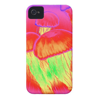 Neon Jellyfish iPhone 4 Case-Mate Cases