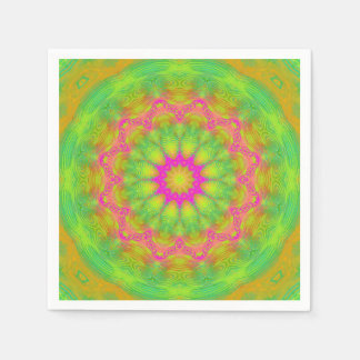 Neon Kaleidoscope Disposable Napkin