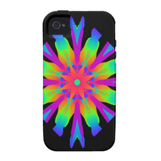 Neon Kaleidoscope Flower Case For The iPhone 4