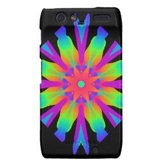 Neon Kaleidoscope Flower Droid Razr Covers