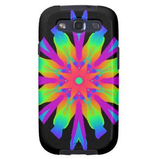 Neon Kaleidoscope Flower Samsung Galaxy S3 Covers