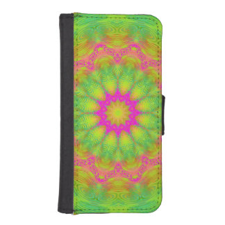 Neon Kaleidoscope iPhone SE/5/5s Wallet Case