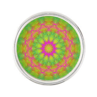 Neon Kaleidoscope Lapel Pin