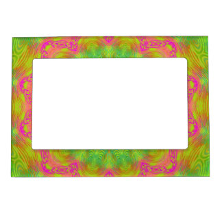 Neon Kaleidoscope Magnetic Picture Frame