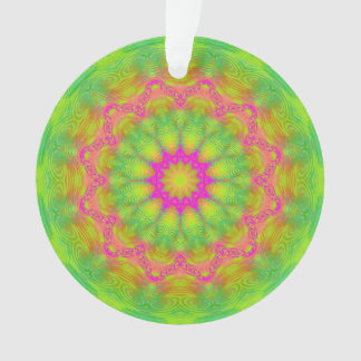 Neon Kaleidoscope Ornament