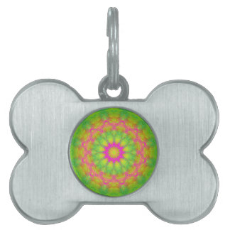 Neon Kaleidoscope Pet ID Tag